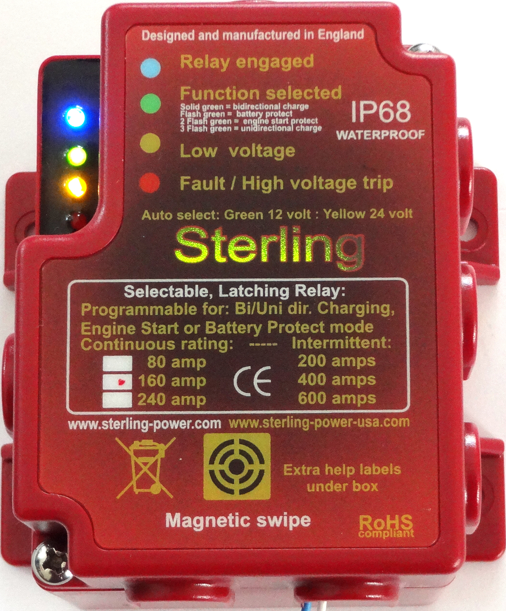 Sterling Power USA Marine Battery Chargers Marine Battery - 12v low voltage protection relay