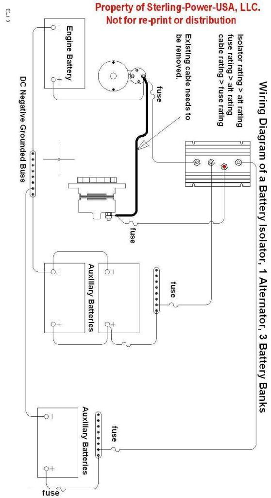 battery isolator switch wiring diagram wirdig 130 amp 3 output marine battery isolator low volt drop split charge