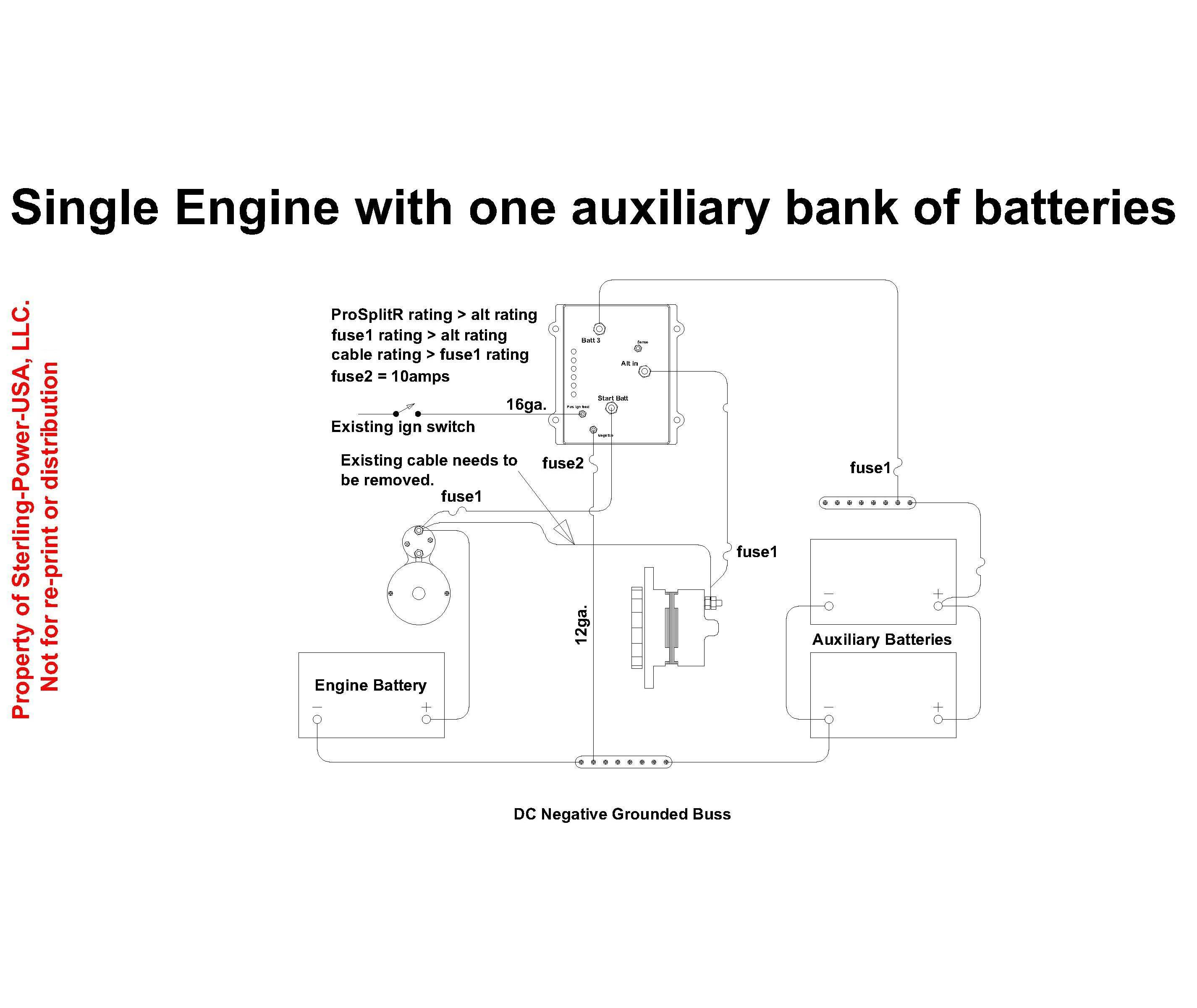 wiring diagrams literature for pro charge ultra marine battery wiring diagram for a sterling power prosplit r zero drop marine battery isolator 1 input and 3 outputs