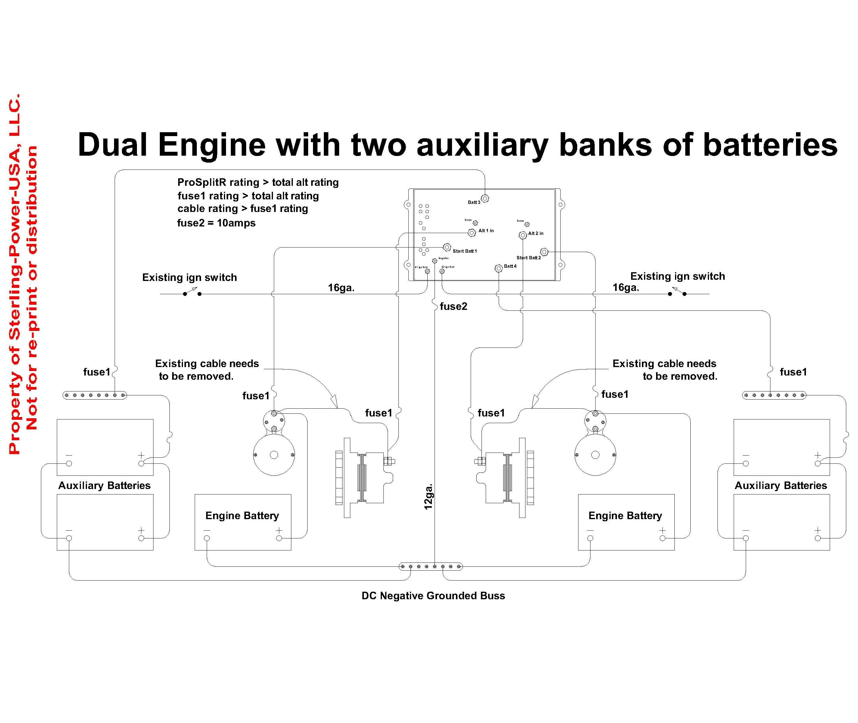 ProSplit R 2 4 wiring diagrams & literature for pro charge ultra marine battery 3 battery boat wiring diagram at mifinder.co