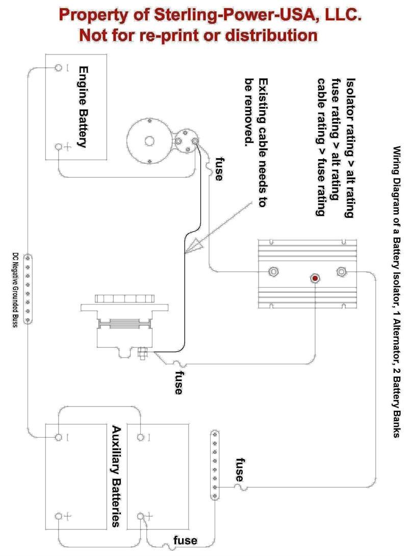 Sterling Power Battery Isolator 130 Amp 2 Marine Wiring Diagram Price 7331