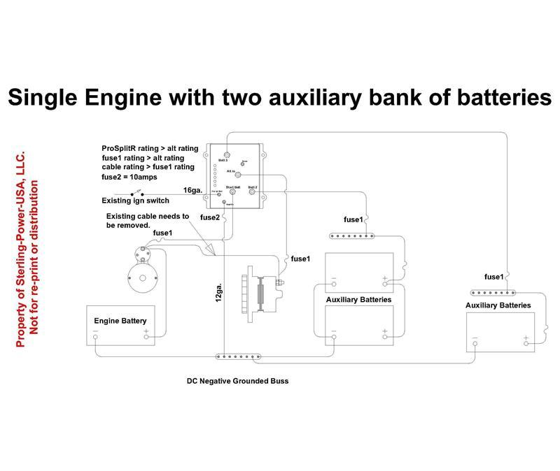 Prosplitr Zero Volt Drop Marine Battery Isolator 12v 120 3 Output: Bow Thruster 12v Battery Wiring Diagram At Goccuoi.net